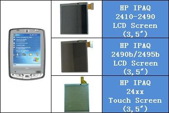 HP IPAQ 24xx Serisi LCD ve Touch Panel degisimi